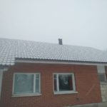 Roof repair in the nursing home in Kikerino