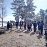 Prayer service on the bank of Ladoga