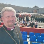 Bishop Laptev Attends Victory Parade in St. Petersburg
